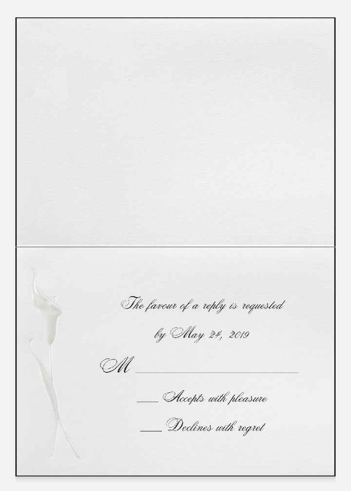 Embossed Calla Lily RSVP Card