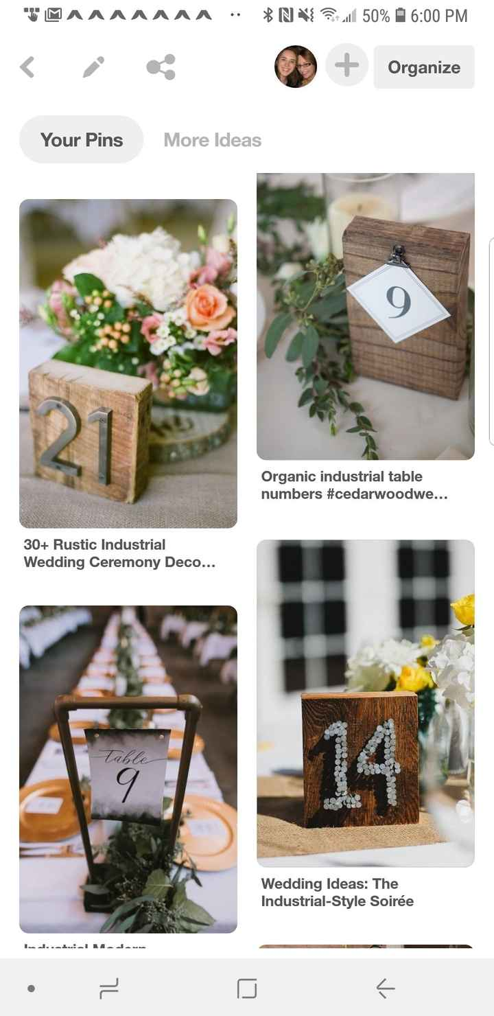 Table Number Ideas - 1