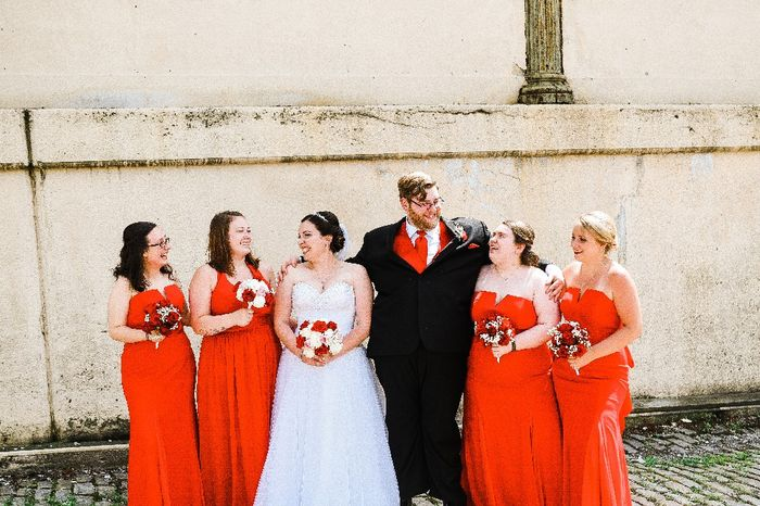 Is anyone else struggling with bridesmaid dresses looking different colors? 5