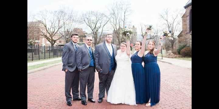 Navy Blue & Blush Wedding - 1