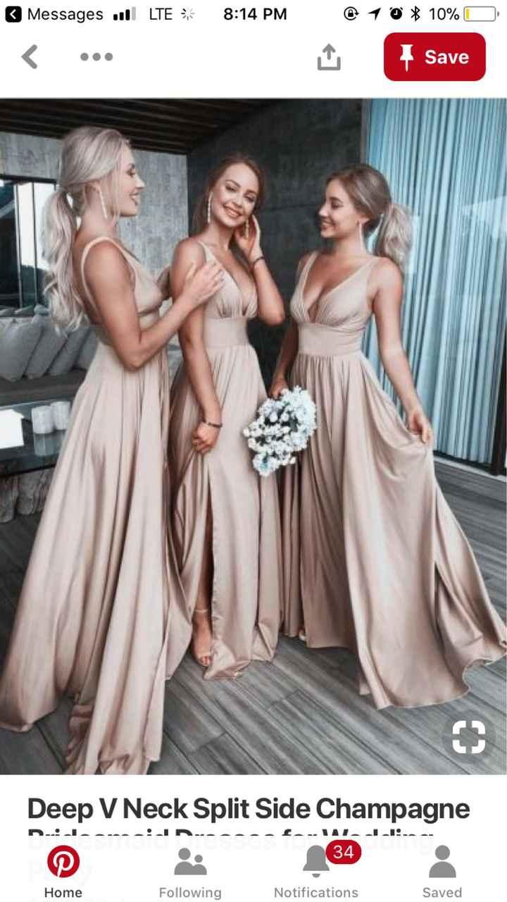 Help! Gold bridesmaid dress! - 1