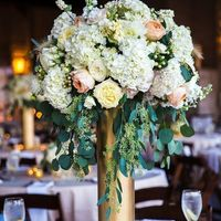 We will have tall centerpieces and they will be gold.
