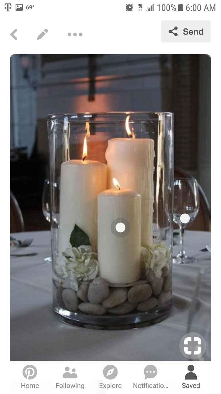Candles as centerpiece? - 1