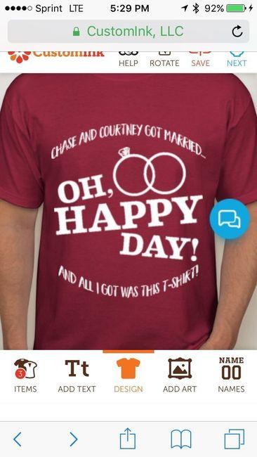T Shirts As Wedding Favors Weddings Community Conversations