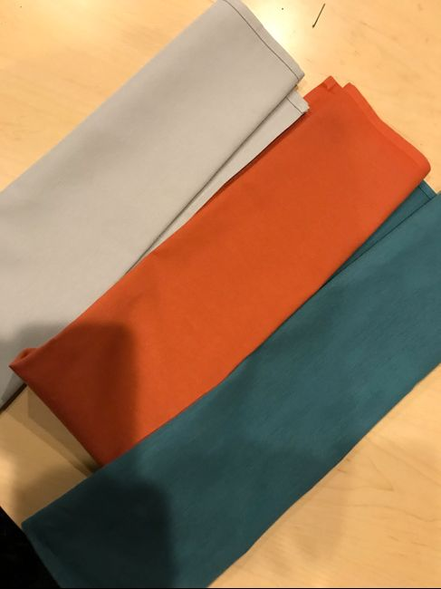 Orange , Grey and Spalsh of Teal - 1