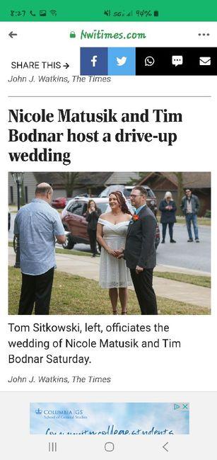 My Corona Drive Up Wedding 3