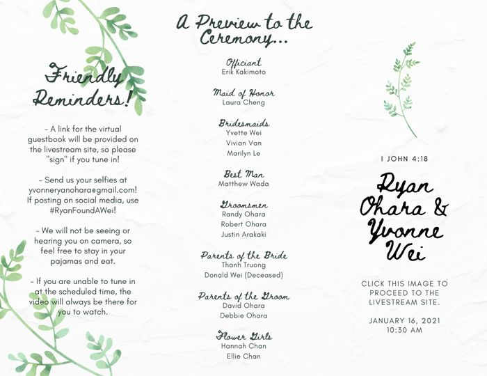 Wedding programs 1