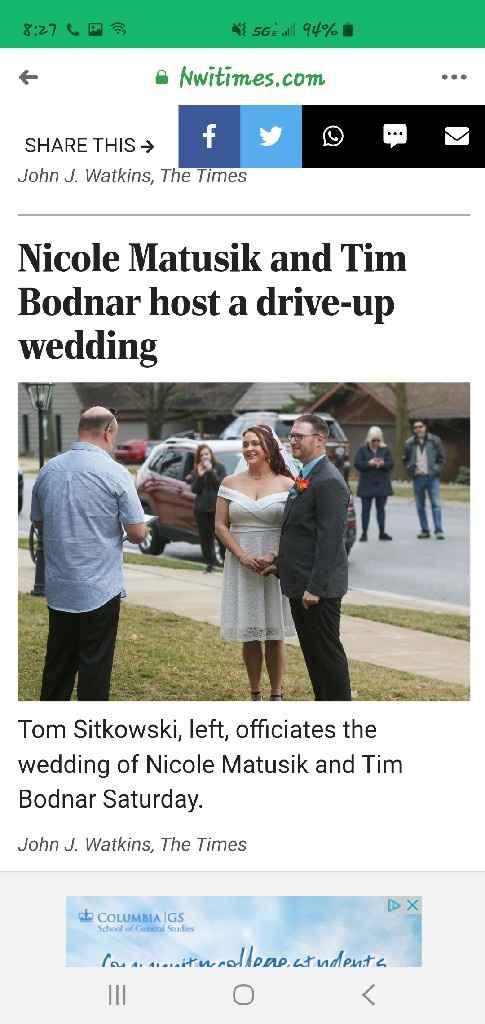 My Corona Drive Up Wedding - 3