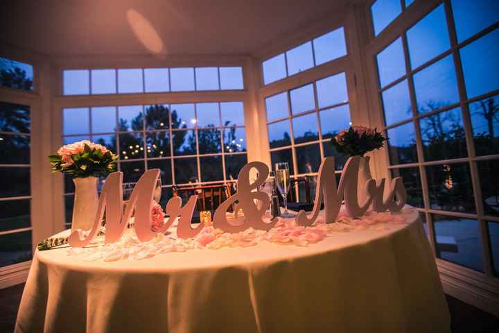 This was our sweetheart table