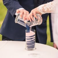 Our Wedding Sand Ceremony - Navy Blue and Light Pink