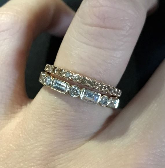 Just got my wedding band! Show yours off ladies! 12