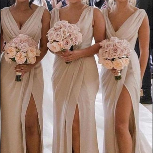 What color Bridesmaid Dresses would work best with my gown? 3
