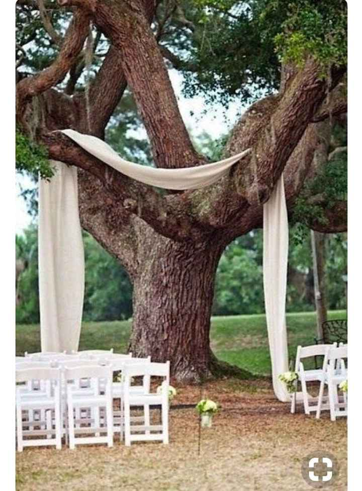 Can I see pics of your aisle/ceremony decor and wedding arbors?
