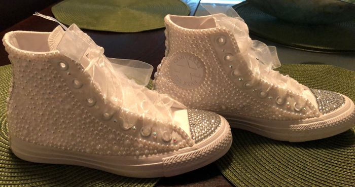 Bling converse sneakers 7