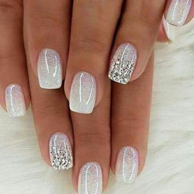 Vibrant bridal nails, yay or nay? 1