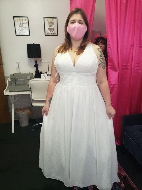 Final dress fitting - success! 1