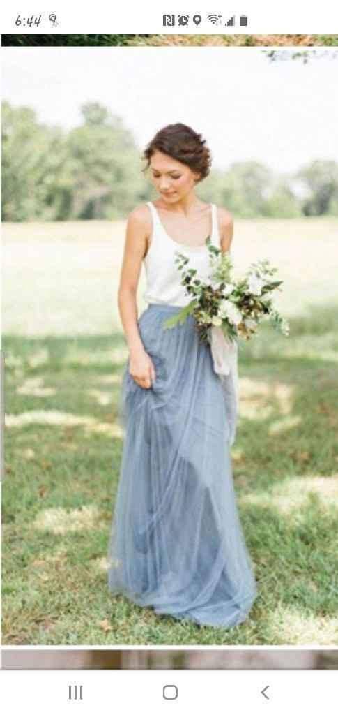 2 piece bridesmaid dresses - 1