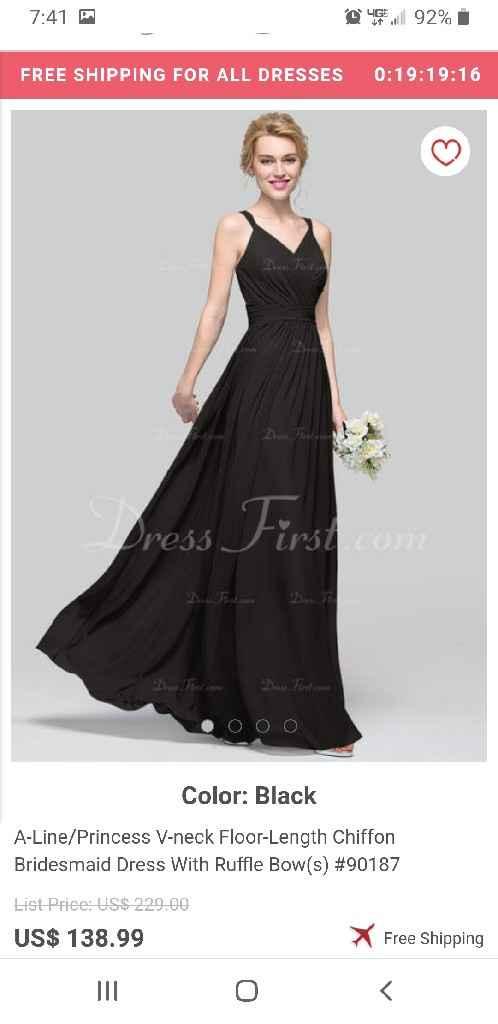 Bridesmaid dress- does this look like wedding dress? - 1