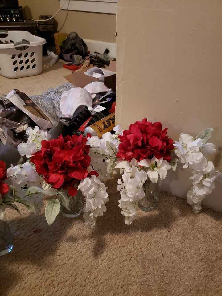 Finished the centerpieces - 2