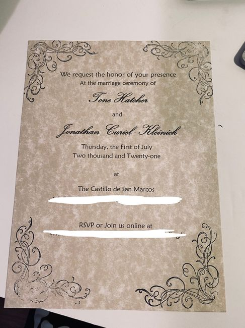 Let's See Your Invitations! 10