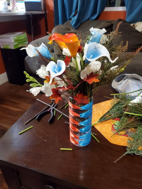 diy Flower Centerpieces - Not sure I'm happy with them :( 6