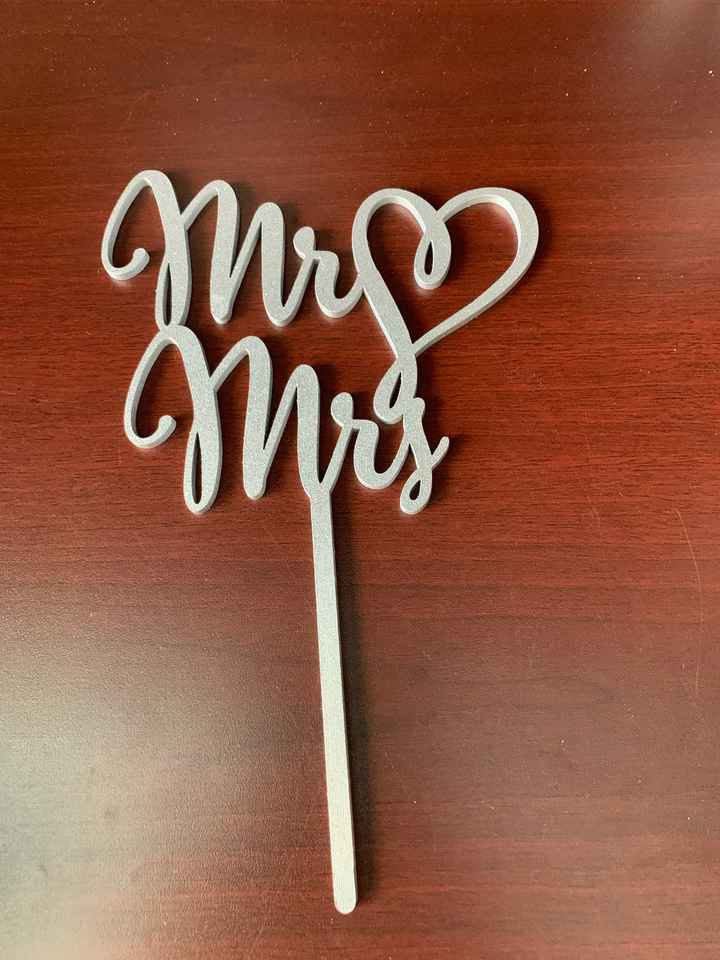 Finally agree on a cake topper! - 1