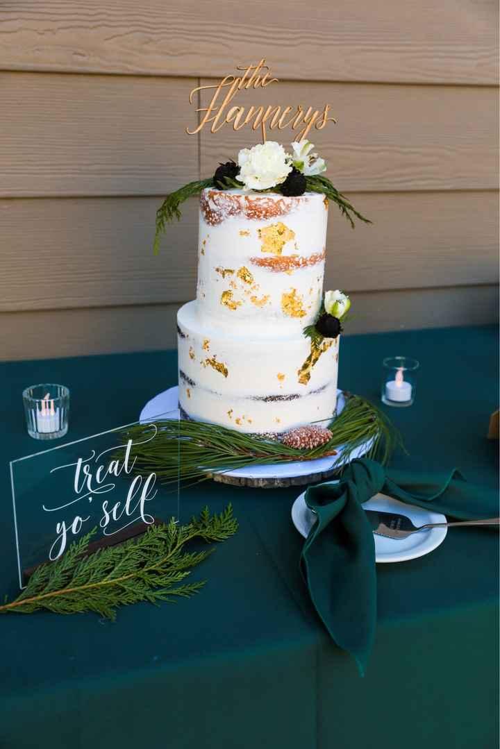 Greenery on Wedding Cake - 1