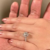 Round Halo (thin pave) engagement rings with bands! - 1