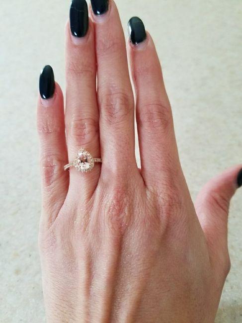 Pear/tear drop shaped rings - 1