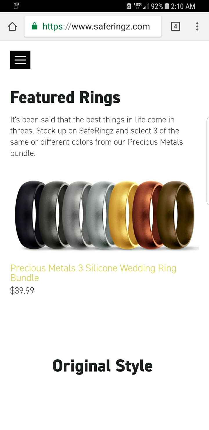 Silicone rings - 1