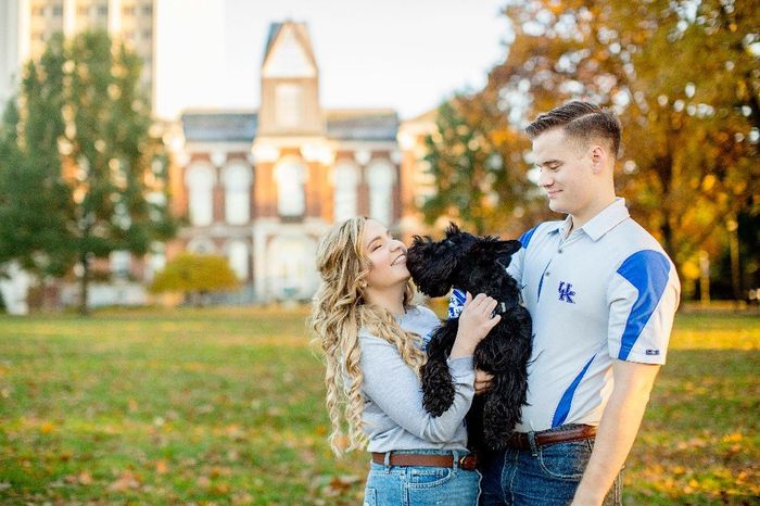 Engagement pics with our pup!!! 11