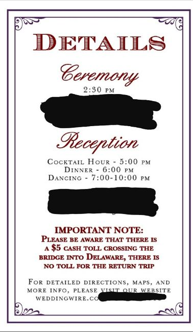 Finishing up my Invitation suite... separate cards? 1