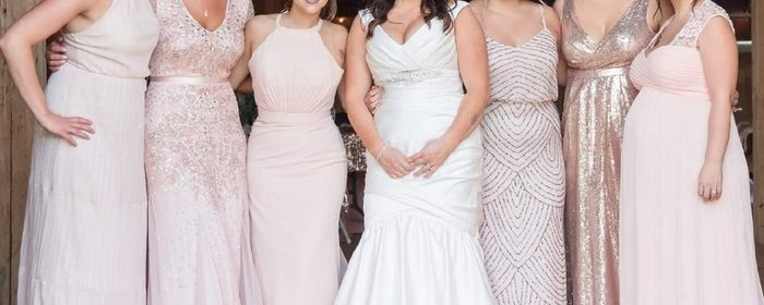 Mix and match bridesmaid dresses 1