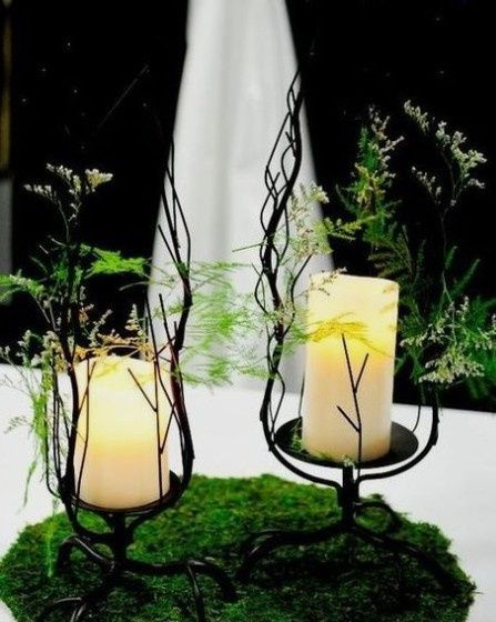 diy Enchanted Forest Themed Wedding Decorations 13