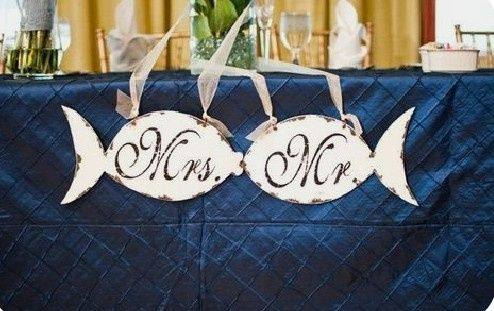 Mr and Mrs wedding table 8