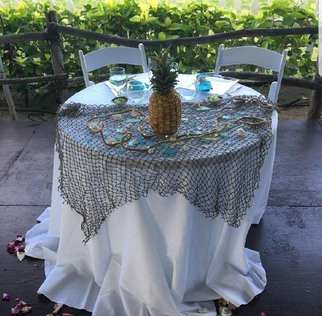 Mr and Mrs wedding table 10