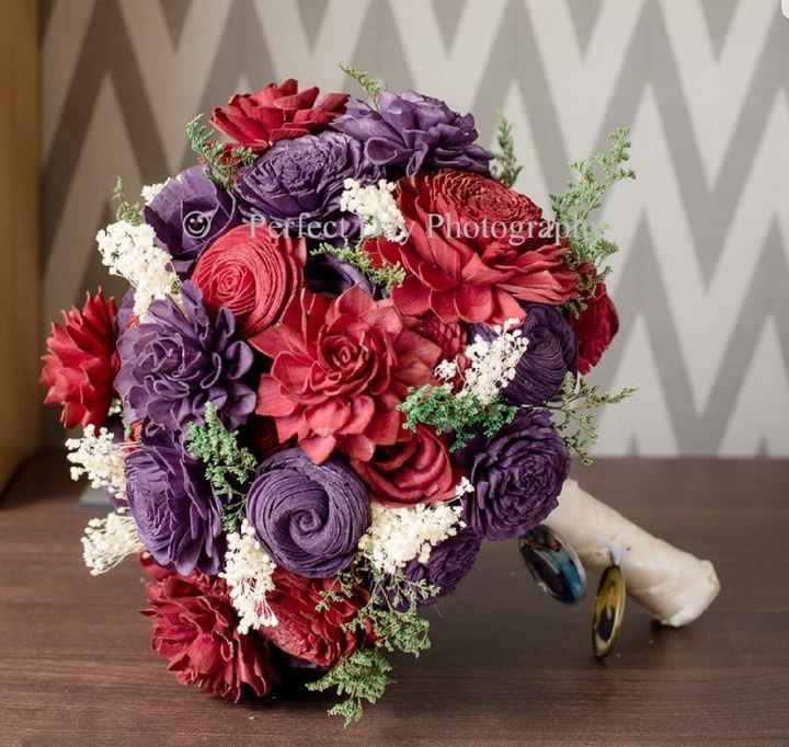 Wood Flower Bouquets - 1