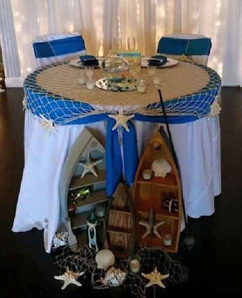 Mr and Mrs wedding table - 1