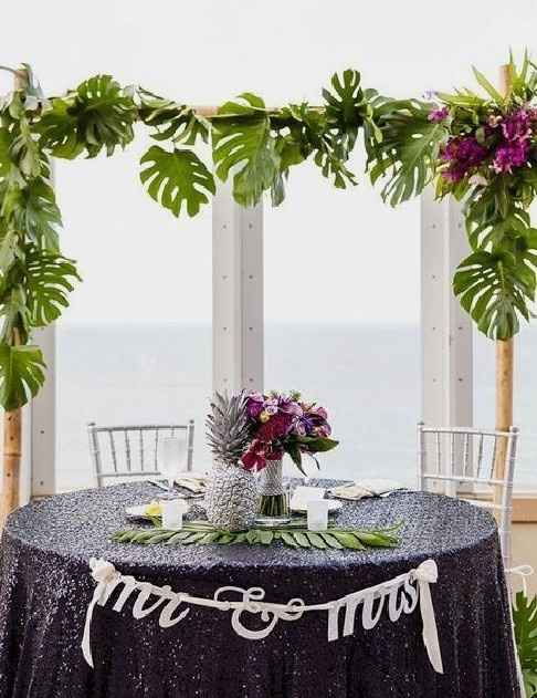 Mr and Mrs wedding table - 5