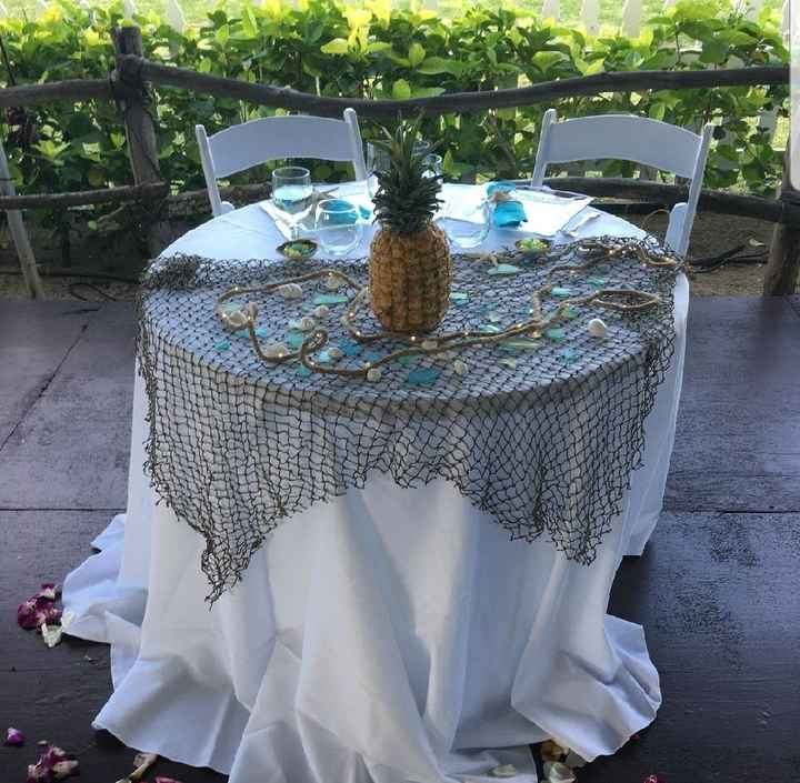 Mr and Mrs wedding table - 6