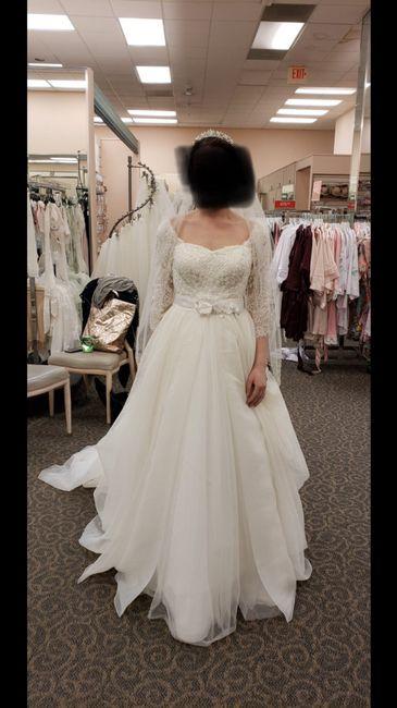 My sisters told me my wedding dress was hideous. 1