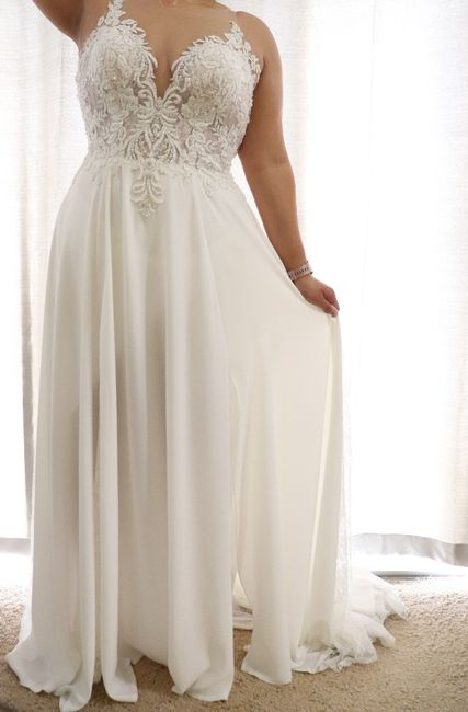 Falling more in love with your dress! 2