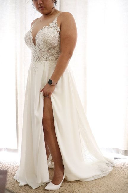 Falling more in love with your dress! 1