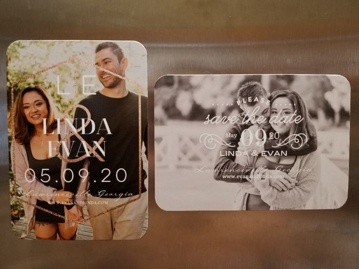 How many pictures did you use on your Save the Dates? 4