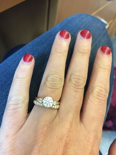 3 stone engagement ring, show me your wedding set! 3