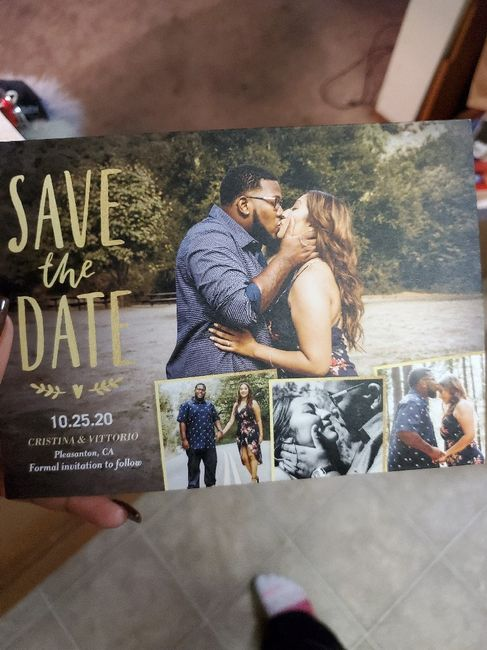 Got our Save the Dates!!! 1