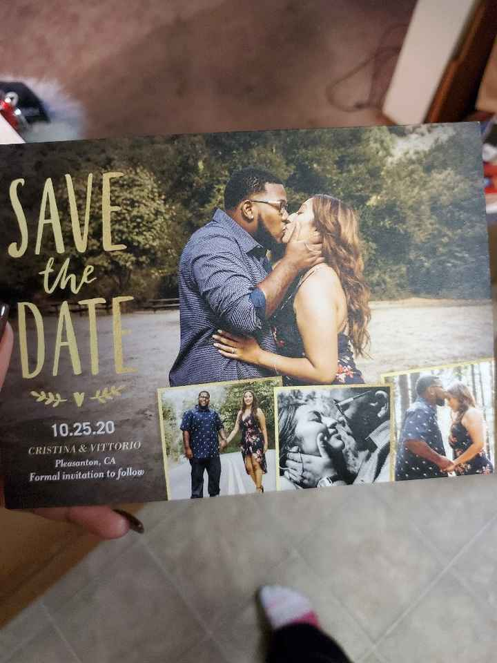 Got our Save the Dates!!! - 1
