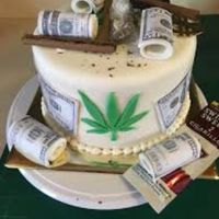 This is the surprise grooms cake for my fiance. If you don't like pot this isn't for you. - 1