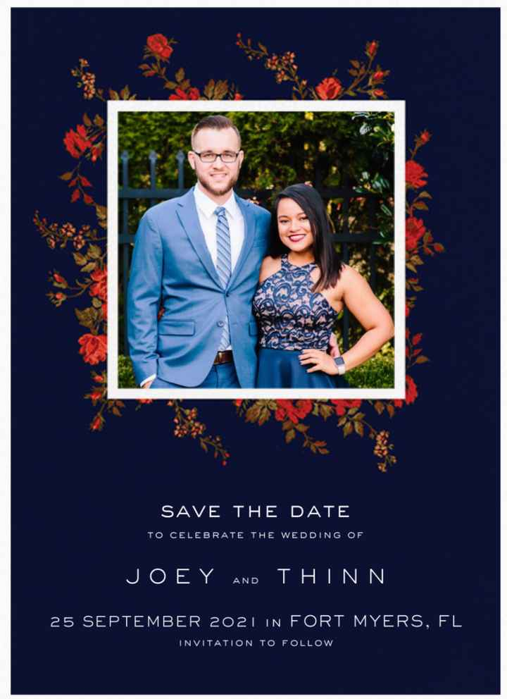Let's See Your Save The Date/Change The Date Designs! 📸 - 1