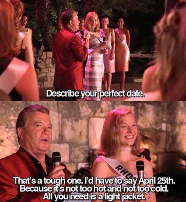Why did you pick the date? - 1